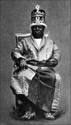 King Duke of Calabar in full dress (published 1895).