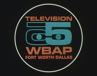 As WBAP-TV, versions of this channel 5 logo were used in some part of the 1960s for certain station IDs.