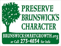 Lawn signs used to promote Brunswick Smart Growth