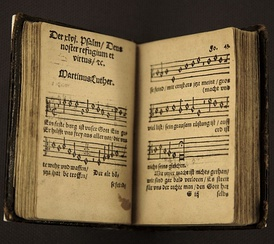 "Luther composed hymns and hymn tunes, including ""A Mighty Fortress Is Our God""."