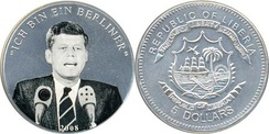 Liberian $5 coin commemorating the speech