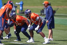 Russell Okung Broncos – Practice 2016