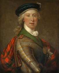 Charles Edward as the Jacobite leader
