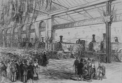 The Exhibition of the Locomotives as shown in the Illustrated London News in 1875