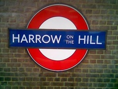 Harrow-on-the-Hill platform sign