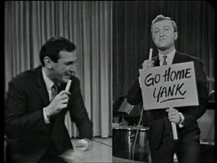 Don Lane appearing split-screen with Graham Kennedy via co-axial cable in 1963, live on In Melbourne Tonight.