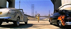 The car race in the L.A. River culvert from the film Grease is an example of the canalized river's use as a location for films, television series, and music videos.