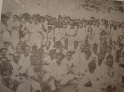 Meeting on the University of Dhaka premises on 21 February 1952