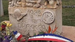 Tribute to 58 French paratroopers of the 1st and 9th RCP who died for France in the 'Drakkar' building in Beirut on October 23, 1983.