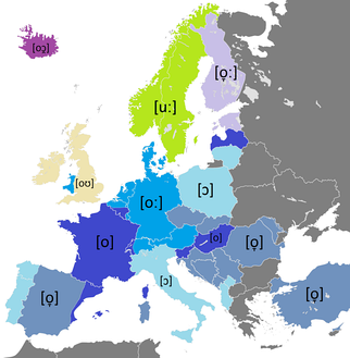 Pronunciation of the name of the letter ⟨o⟩ in European languages