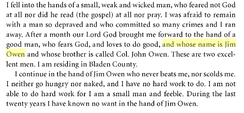 Omar ibn Sa'id describing his two slave masters
