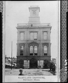 Maryland Institute Hall, Baltimore. Here bolting delegates nominated Breckinridge before Richmond vote[3]