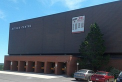 Constructed in 1976, Aitken University Centre is a 3,278 seat multi-purpose arena primarily used by the UNB Varsity Reds.