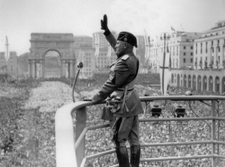 Mussolini was initially a highly popular leader in Italy until Italy's military failures in World War II