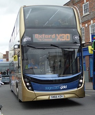 Stagecoach Gold bus in Wantage Market Place on former route X30 (now S9)