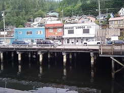 Ketchikan as seen from the dock near the cruise terminal.