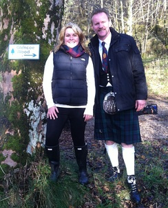 Morgan Spurlock with Highland Titles in Scotland during filming Morgan Spurlock's New Britannia