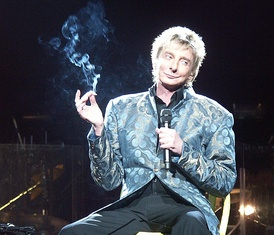 Manilow live in 2008 during a 1960s sketch