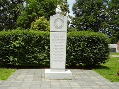 Memorial at Spring Hill Cemetery in Huntington, West Virginia to the victims of the 1970 plane crash