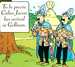 Thomson and Thompson appear in Asterix in Belgium