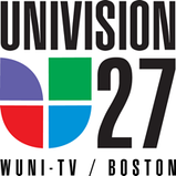 WUNI's former Univision 27 logo. Variations of this logo were used from the mid-1990s through 2012.