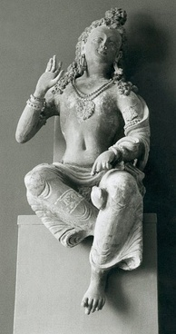 Statue from a Buddhist monastery, 700 AD, Afghanistan