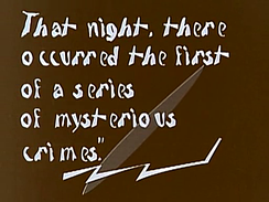 The Cabinet of Dr. Caligari (1920) used stylised intertitles.