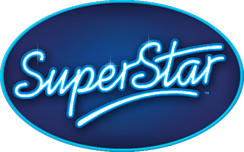 The logo of SuperStar, which was used by German, Czech, and Slovakian versions of Idols.
