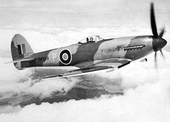 "Tempest I prototype HM599 with later bubble canopy; when first flown, it had the ""car-door"" canopy and small tail unit"