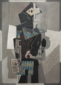 Pablo Picasso, 1918, Arlequin au violon (Harlequin with Violin), oil on canvas, 142 x 100.3 cm, Cleveland Museum of Art