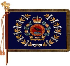 The regimental colour of the Stormont, Dundas and Glengarry Highlanders.