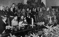 Signing ceremony for the Axis Powers Tripartite Pact