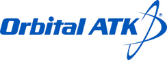 Former logo of Orbital ATK, the company's original name following the merger of Orbital Sciences Corporation and the supoff aerospace division of Alliant Techsystems.