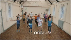 The BBC One 'Exercise Class' ident (2017–2020)
