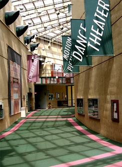 Lobby of the Wright State University Creative Arts Center in 2007
