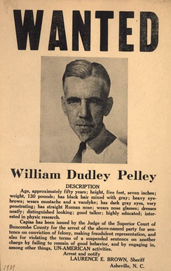 A wanted poster for Pelley