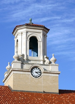 Bell tower atop College Hall at Texas A&M University-Kingsville