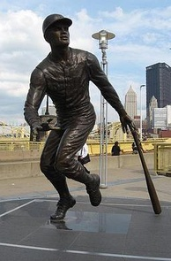 A statue of Clemente outside of PNC Park in Pittsburgh.