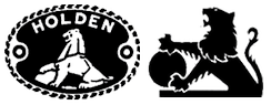 Holden logos from 1928 (left) and 1972 (right).