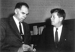 President Kennedy and his Atomic Energy Commission Chairman, Glenn Seaborg