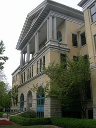 The Frank A. Bracken Administration Building is the oldest on campus, completed in 1899.