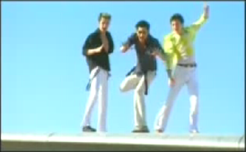 A still image from O-Zone's music video