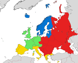 European sub-regions according to EuroVoc:   Northern Europe   Western Europe   Southern Europe   Central and Eastern Europe
