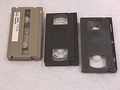 MII, VHS, and S-VHS cassettes.
