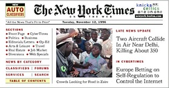 The New York Times on the Web, November 12, 1996.