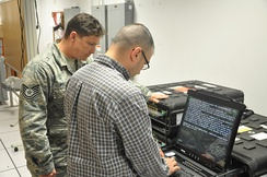 AFNIC Personnel working with the Simulator Training Exercise (SIMTEX) range