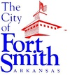 "Logo image shows a red building with flag on top and the words ""The City of Fort Smith, Arkansas"" in blue"