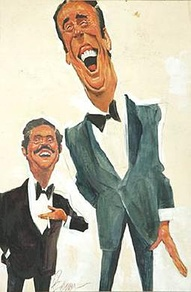 Caricatures of Dan Rowan and Dick Martin by Sam Berman