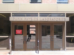 The entrance to Pupin Labs at Columbia