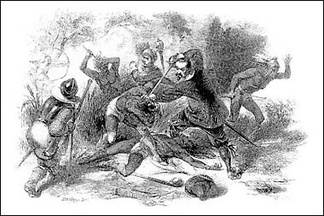 The massacre of the Pequot resulted in the enslavement of some of the survivors by English colonists.